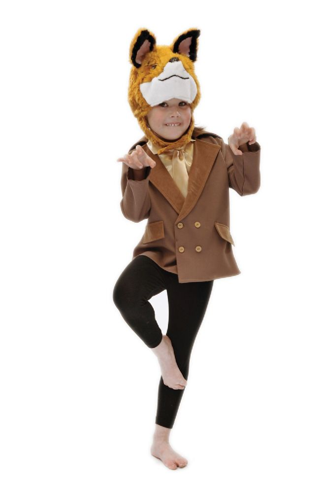 Children S Kids Boys Girls Fantastic Mr Fox Fancy Dress Up